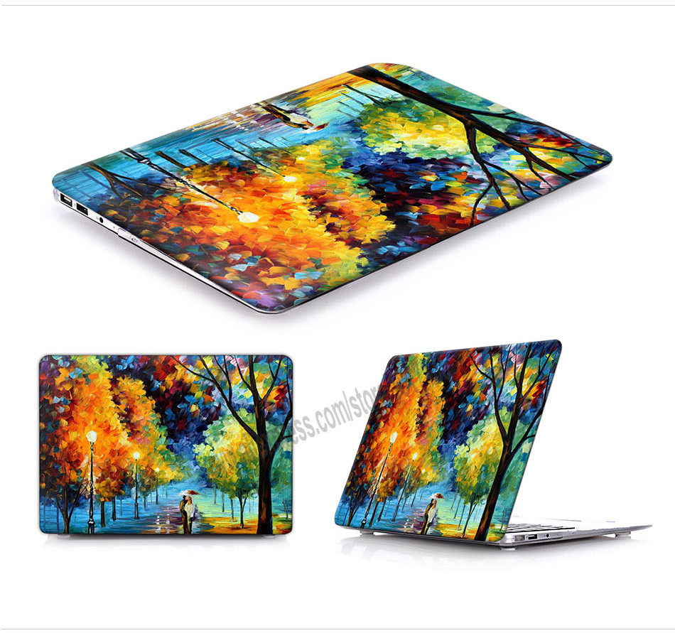 Leonid afremov city painting laptop hard cover protective for Chambre a air 13 5 00 6