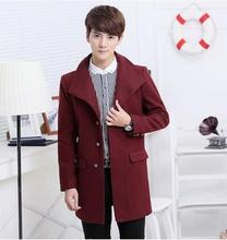 Perfect Design Fashion Mens Trench Coat Casual 4 Attractive Solid Coats Add Weight Male Handsome Mens Long Trench Coat(China (Mainland))