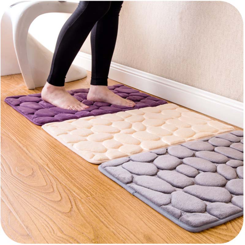 3D Rugs and Carpets Stone Area Rug for Living Room Fleece Fabric Solid Carpet Tapis Soft Memory Foam Slip-resistant Doormat(China (Mainland))