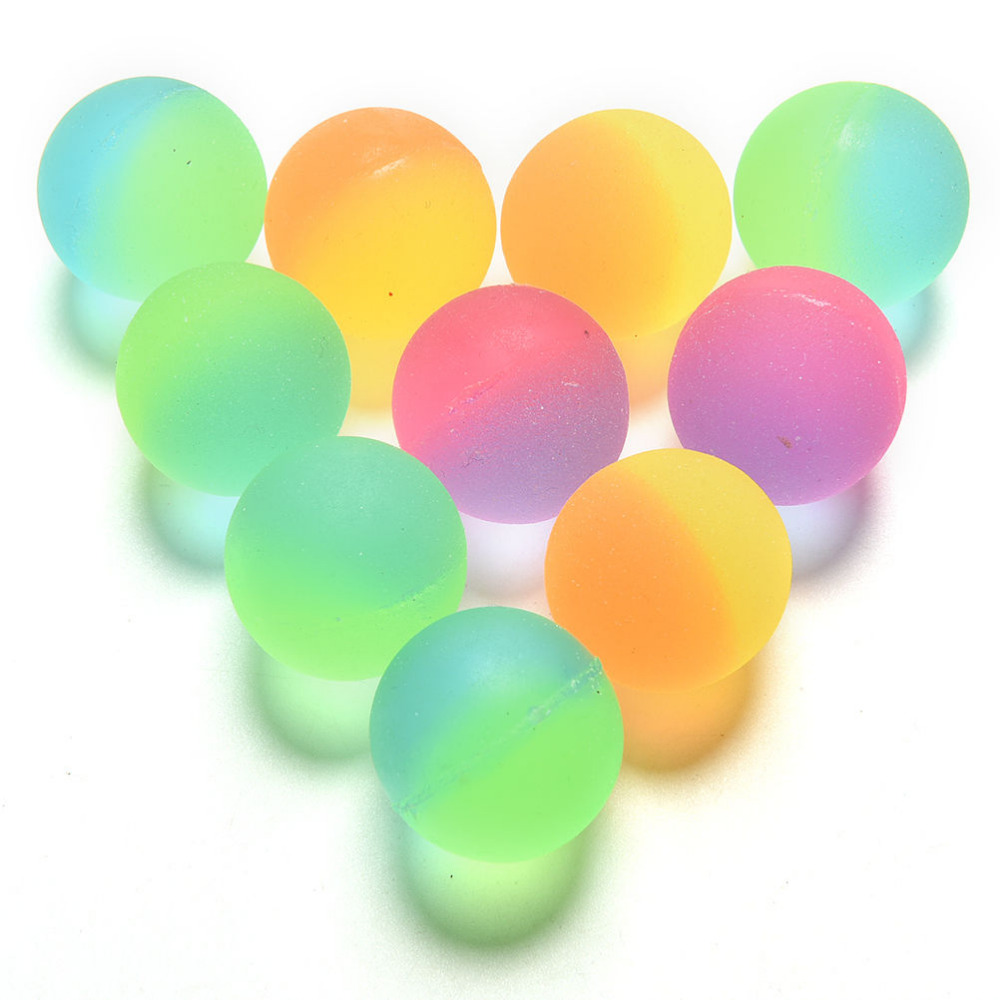10PCS Colored Bouncing Rubber Ball Outdoor Toys Kids Sport Games Elastic Juggling Jumping Balls Luminous Children Toy Ball(China (Mainland))