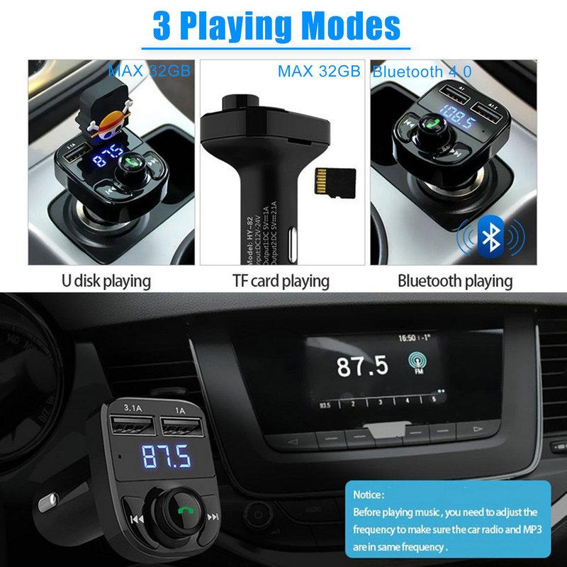Dual USB Car Charger Bluetooth Car Kit (13)
