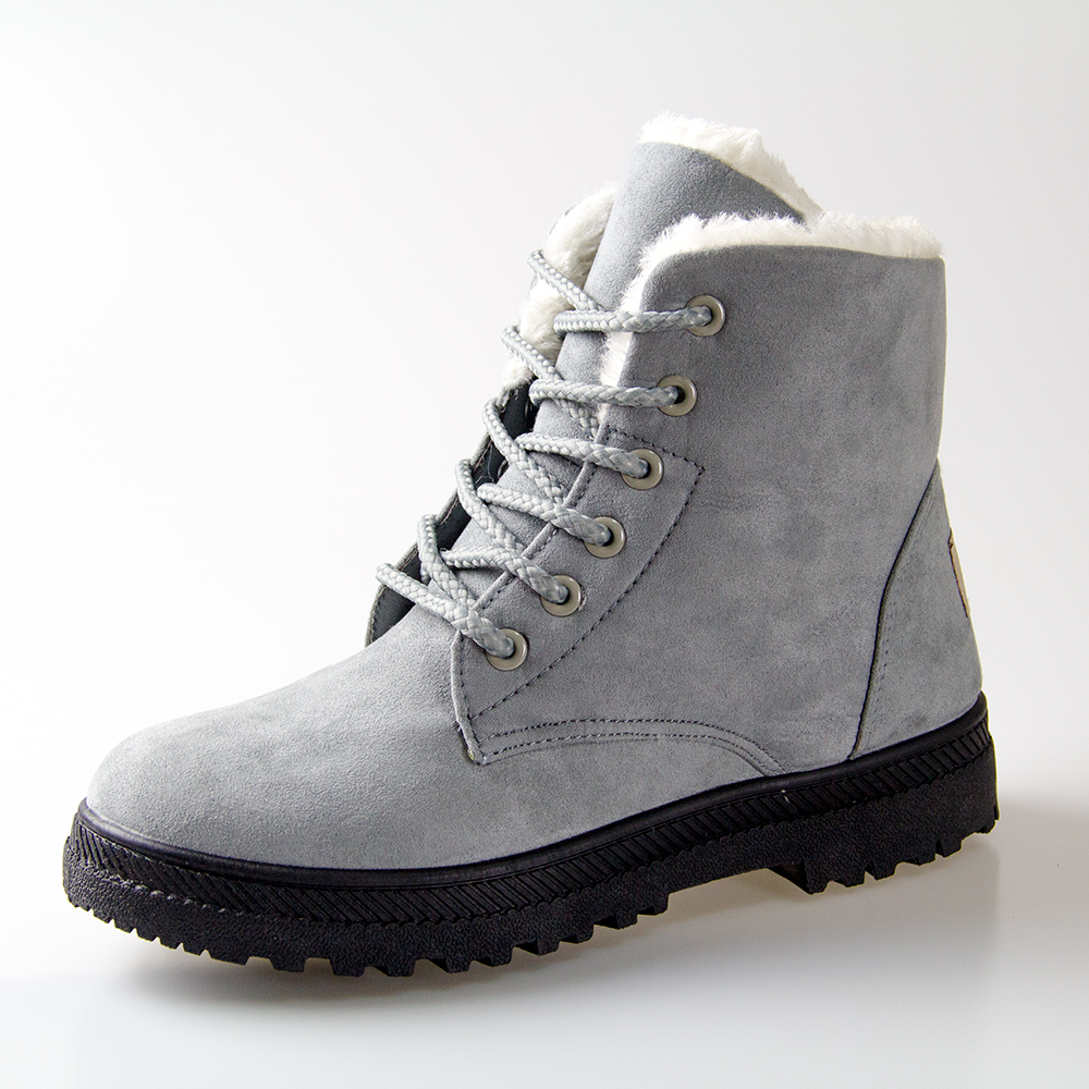 Women Winter Boots 35 42 Fur Snow Boots Women Ankle Boots ...