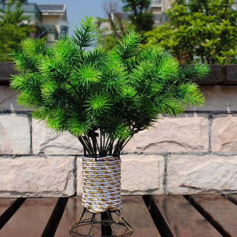 decorative flowers artificial one piece 7 branches 35cm