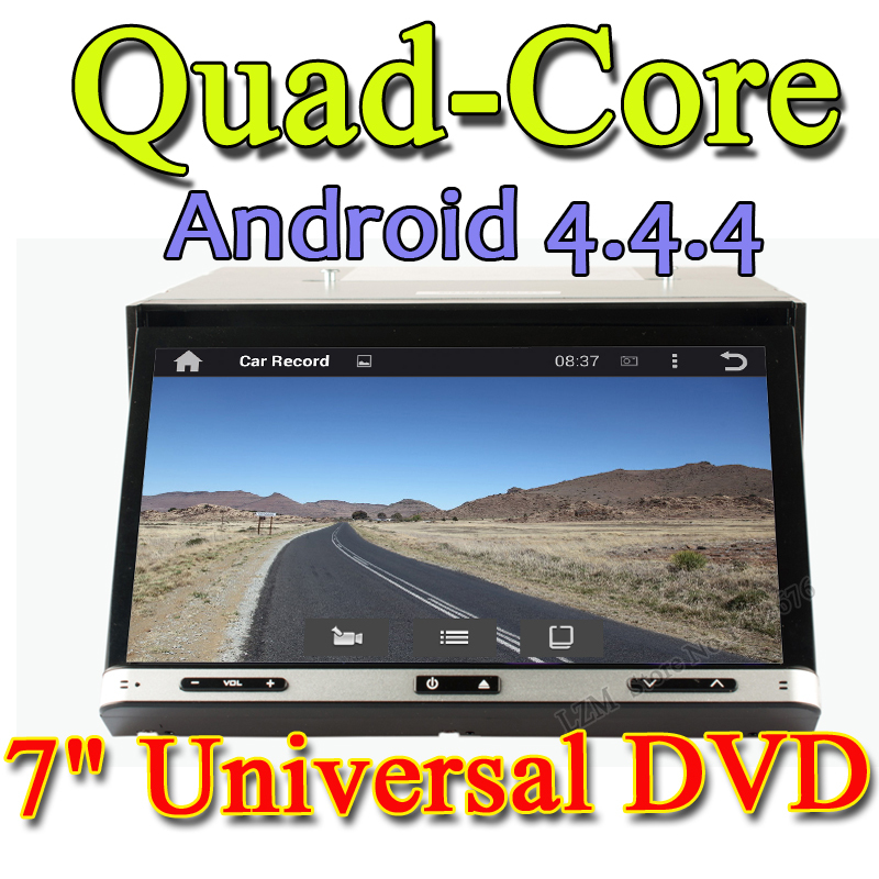 Universal 2 din Android 4.4.4 Car DVD player GPS+Wifi+Bluetooth+Radio+1.6GB CPU+DDR3+Capacitive Touch Screen+3G+car pc+aduio(China (Mainland))