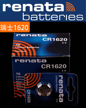 Buy 10X renata CR1620 CR 1620 3v Lithium Battery Remote control battery car remote battery Scales, motherboard battery for $12.00 in AliExpress store