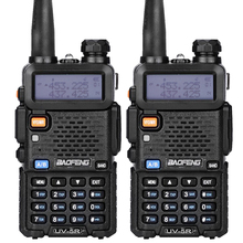 2 pcs/lot Baofeng UV-5R Talkie Walkie Ham Radio UHF et VHF 136-174 MHz et 400-520 MHz 128 Dual Band Two Way Radio 5 W HF Émetteur-Récepteur(China (Mainland))