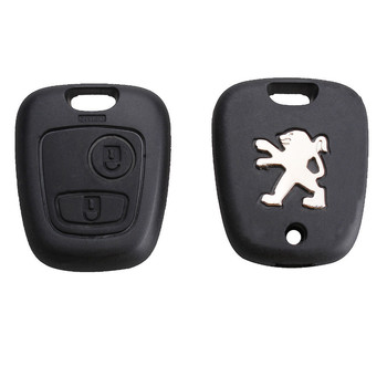 Leekey New Remote Key Case Shell Entry Fob 2 Buttons for Peugeot 106 206 306 406 without Blade Free Shipping