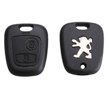 New Remote Key Case Shell Entry Fob 2 Buttons for Peugeot 106 206 306 406 without Blade Free Shipping(China (Mainland))