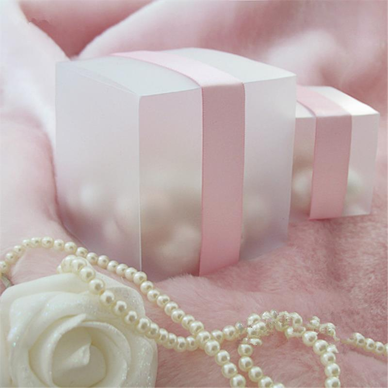 Sweet Candy Box Matte Clear Plastic PVC Candy Box Party Favor Wedding supplies Packaging Christmas decoration(China (Mainland))