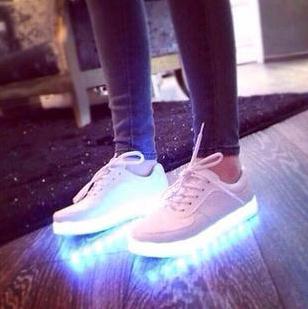 LED Colorful shoes, luminous couple models shoes, men shoes, USB charging emitting shoes