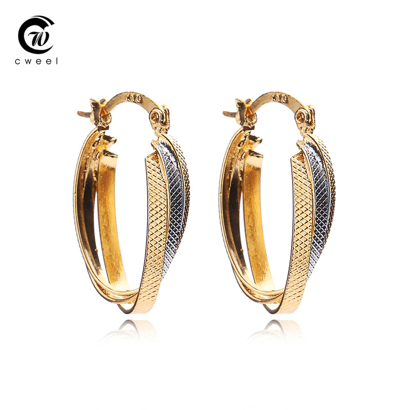 CWEEL New Fashion Earrings Hot Sale Classic 18K Gold Plated Earring Jewelry For Women Girls Brincos African Beads Accessories(China (Mainland))