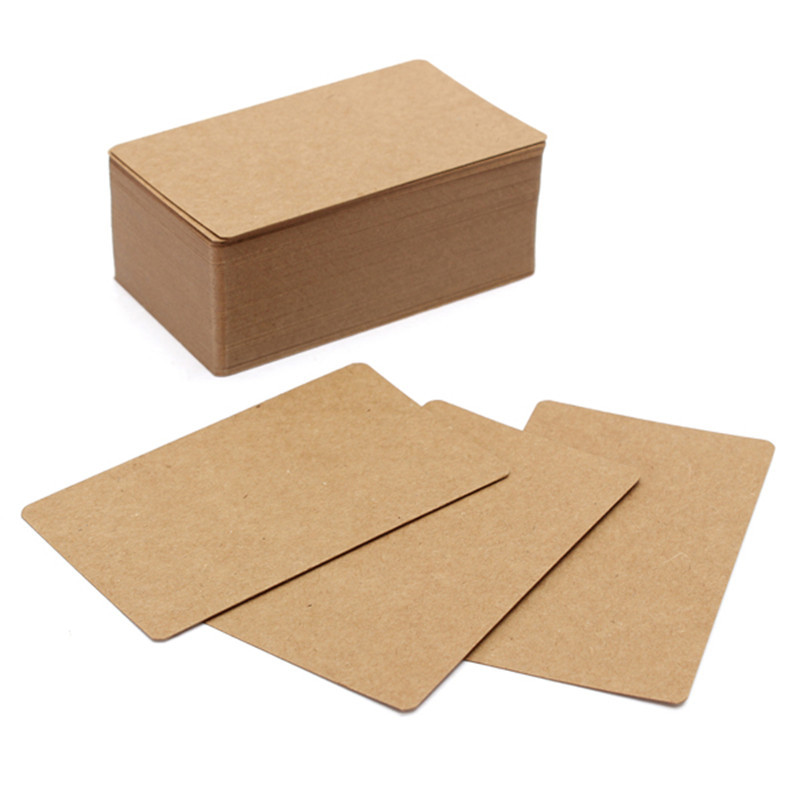 100Pcs Newest Kraft Paper Label DIY Bookmark Blank Tags Retro Painting Written Word Message Note Card DIY Gift 9X5.5cm(China (Mainland))