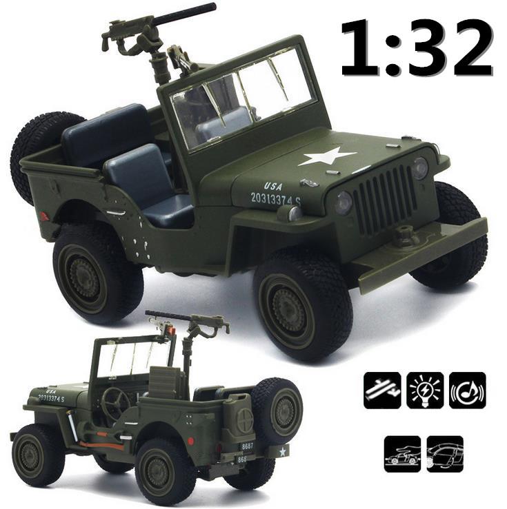 1:32 Alloy Willis military vehiclesWorld War II military vehicles series,Pull Back flashing Metal Cars,free shipping(China (Mainland))