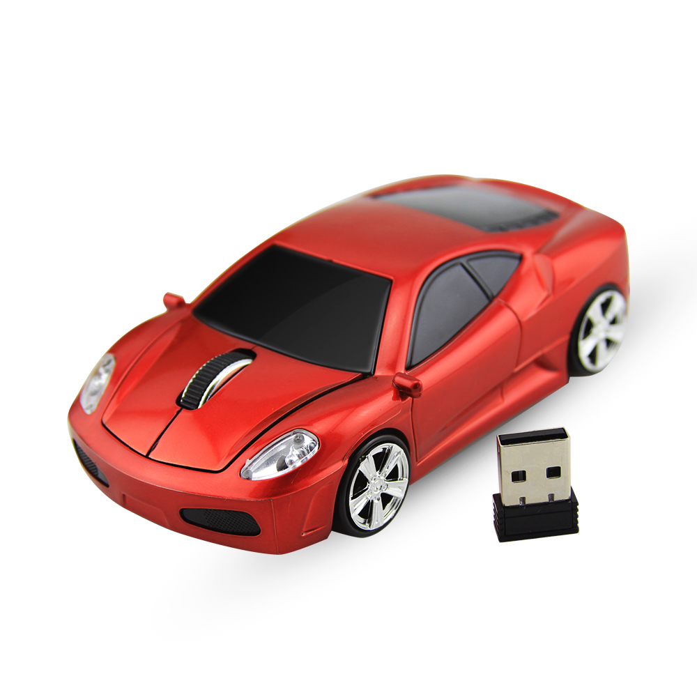 Sports Car Shape 2.4GHz Wireless Mouse Car Mause 1600DPI Optical Gaming Mouse Mice for computer PC Desktop Laptop Free Shipping(China (Mainland))