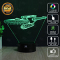 Star Wars Lamp Star Trek Spacecraft 3D Lamp LED Novelty Night Lights USB Light Glowing Children