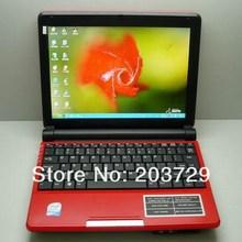 Dual coreWindows7 Notebook PC 10inch Mini Laptop 4GB 500GB Intel Atom N2550 1 66GHz Free shipping