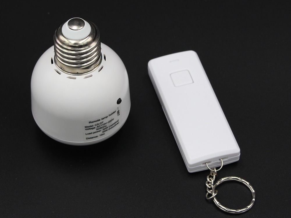 E27 CS-DT Wireless Remote Control Screw-In Socket switch Lamp Bulb cap Holder(China (Mainland))
