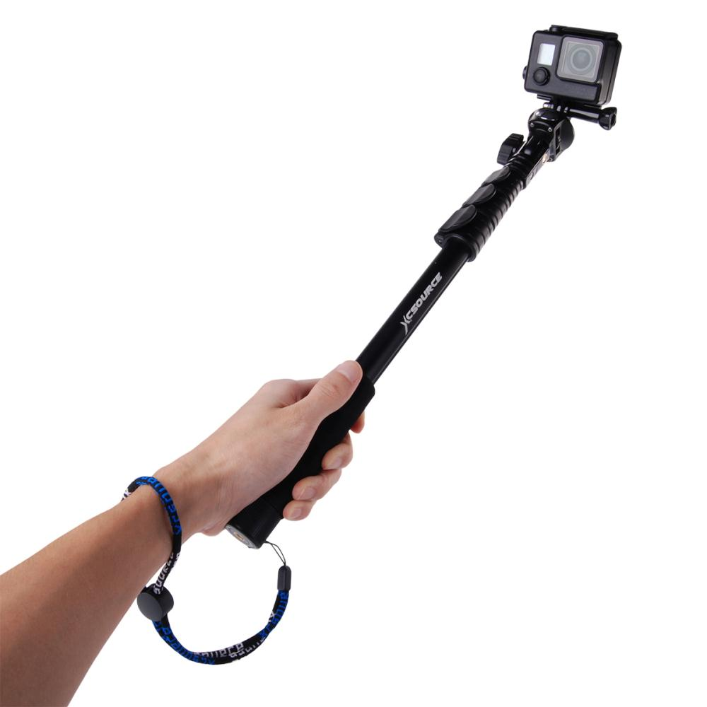 xcsource extendable self selfie stick handheld monopod tripod clip holder for camera iphone. Black Bedroom Furniture Sets. Home Design Ideas
