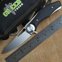 Grün Dorn Shirogorov dunkle V Titan + G10 Griff D2 Klinge Kugellager Klappmesser Camping Jagd Freien Messer EDC Werkzeug(China (Mainland))
