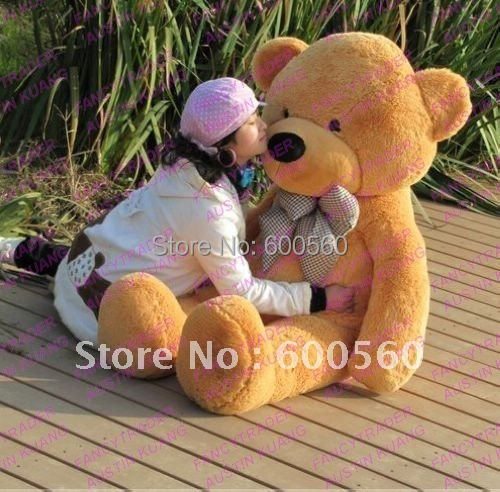 Fancytrader 4 Colors Available 63'' Giant Stuffed Teddy Bear Free Shipping Hot Christmas Gift Huge JUMBO FT90059(China (Mainland))