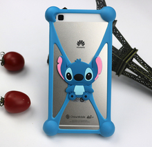 Phone Case For ZTE Blade L3 2016 Soft Silicone Phone Housing Back Cover Shell 3D Cartoon Stitch Minnie Bear Doraemon Shape Case