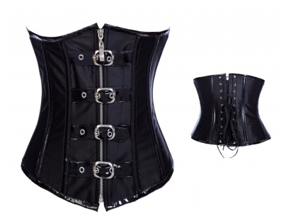 2015 fashion Women Sexy Steel Boned Corset plus size waist training corsets sport waist trainer chest corselet S~.XXL(China (Mainland))