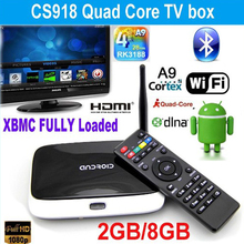 Best Selling 2GB/16GB Updated CS918 Android 4.4 TV Box Quad Core XBMC WiFi 1080P Better Than z4 mxq pro m8s android tv box(China (Mainland))