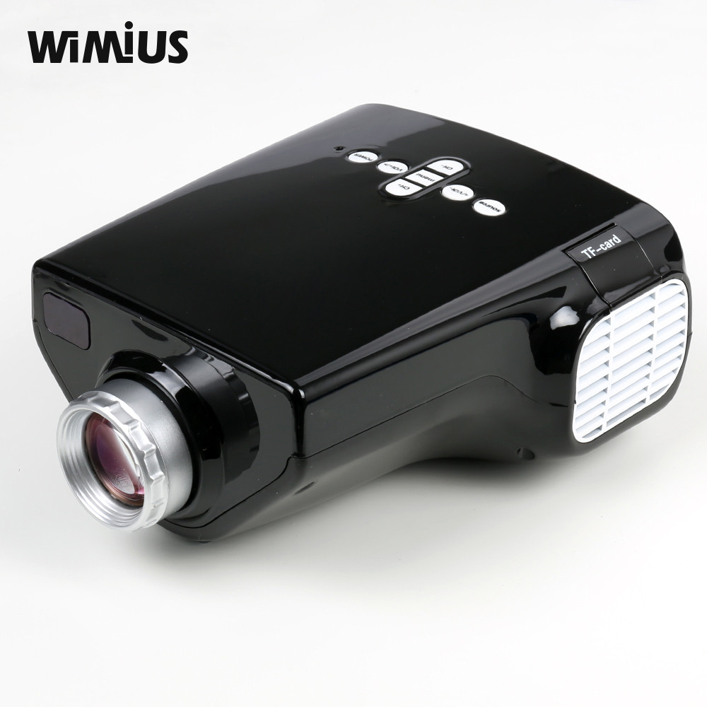 Wimius portable mini projector led multimedia beamer for Hdmi mini projector reviews