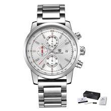 BENYAR mode chronographe Sport hommes montres Top marque de luxe montre à Quartz Reloj Hombre saat horloge mâle heure relogio Masculino(China)