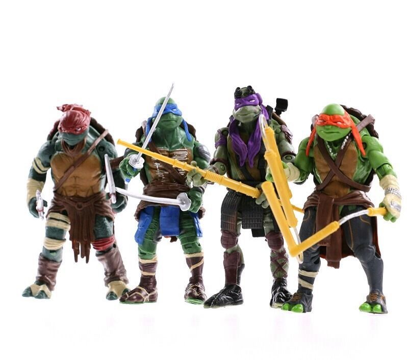 Hot selling Toy Teenage Mutant Ninja Turtles hasbroeINGlys Action Figure TMNT Model Toys For Boys Gift 4pcs/lot(China (Mainland))