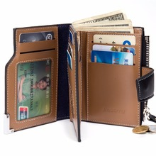 Men Wallet Coin Bag zipper ID Credit Card Holder Bifold Coin Purse Top Brand Wallet Pockets Promotion Gift(China (Mainland))