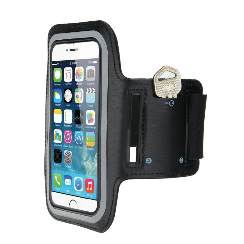 Black Sport Armband Phone Bags for iPhone 6 6S 4.7inch Waterproof Arm Band Belt with Key Running Case Pouch Holder for Huawei(China (Mainland))