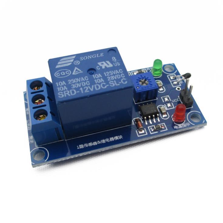 12V temperature thermistor sensor plus wet control switch relay module temperature detection module