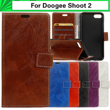 Buy EiiMoo Phone Case Doogee Shoot 2 5.0 Funda Pure Silicone + PU Wallet Leather Flip Cover Doogee Shoot 2 Shoot2 Case Cover for $5.66 in AliExpress store