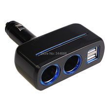 Quick Charge Car Charger 80W 3.1A Dual Cigarette Lighter Adapter 2 USB Interface For iPhone Samsung Smart Phones DVR GPS