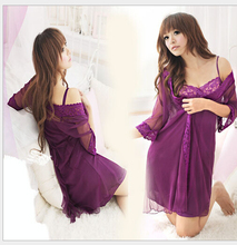 New beautiful  fashion  sexy  purple   and pink lace Robes  for home wear free size on sale 01(China (Mainland))