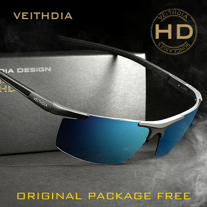 Veithdia Aluminum Magnesium Happy Freedom Sunglasses Polarized Sports Men Sunglass Male Accessories Oculos De Sol Feminino