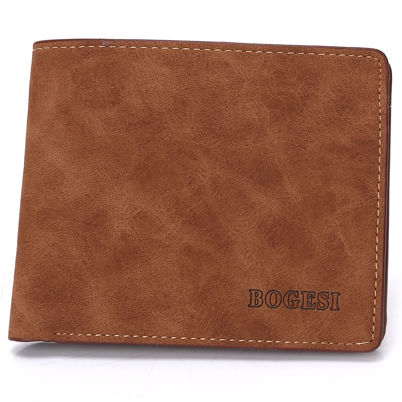 Famous Brand Bogesi Matte Synthetic Leather Vintage Style Short Casual Men Wallets Designer Retro Slim Male Card Wallets Purses<br><br>Aliexpress