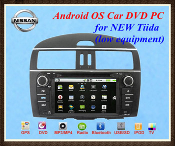 NEW!! Android Car DVD player PC for NISSAN NEW TIIDA 2011 2012 2013 2014  WIFI 3G 1080P 1GHZ CPU 512MB RAM, Free Sony CCD camera