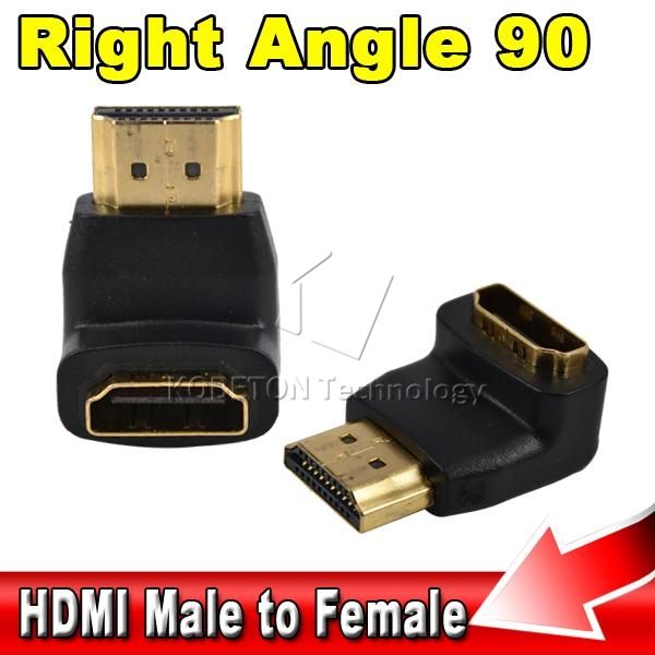 Best Signal Quality 90-degree Right Angle HDMI Male to Female Cable Extend Converter Adapter 1080p for HD LCD HDTV(China (Mainland))
