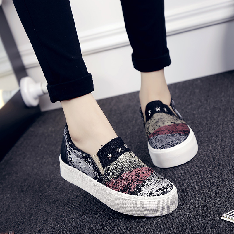 doodle canvas shoes shoes platform pedal