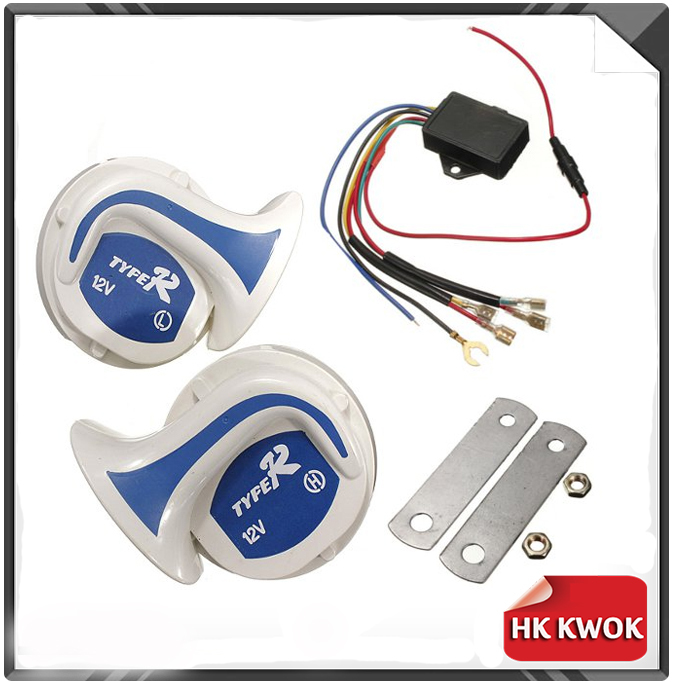 12V Motorcycle Speakers Loud Horn Air Snail Vehicle Digital Electric Horn Voice magic 18 Sound Car Truck Vehicle Siren P25(China (Mainland))