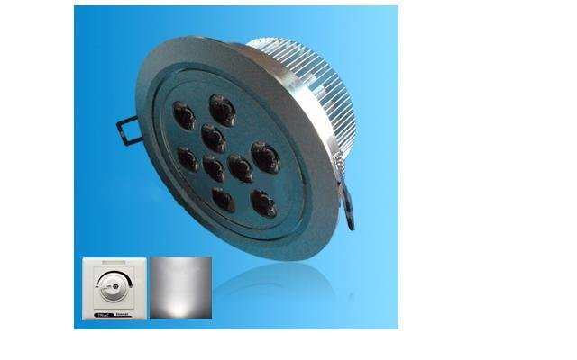 Dimmable led ceiling light;with triac dimmer;9*1W;Bridgelux Chip;CCT:2800K,4500K,6500K