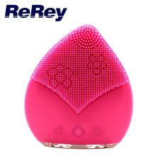 Silicone Facial Cleanser Sonic Face Cleansing Brush Facial Massager Electric Face Cleanser Vibrate Waterproof Skin Care Device(China (Mainland))