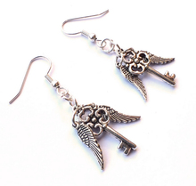 50 Pair Silve Steampunk Gothic Drape Earring