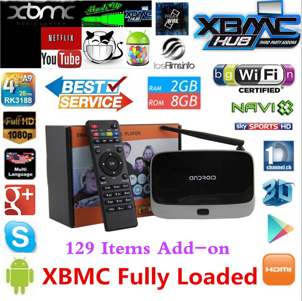1080P RK3188T Android 4.4 TV Box Player Quad Core 2GB/8GB WiFi Set Top Box with Remote Control EU Plug CS918 Tv Receivers<br><br>Aliexpress