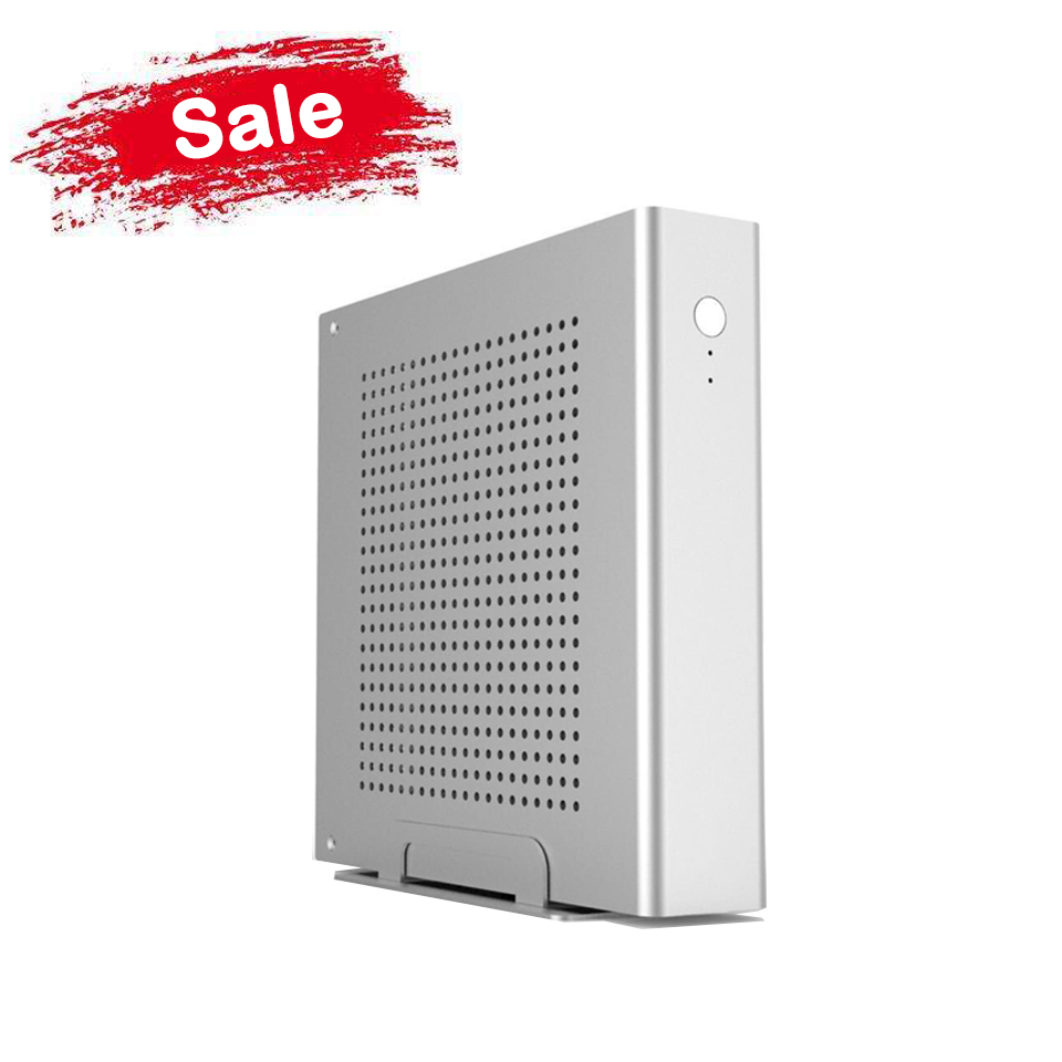 Free Shipping! Aluminum PC case, Silver HTPC Case Support 170*170(mm) mini ITX Motherboard, Ultra Mini ITX Case 200*200*45(mm)(China (Mainland))