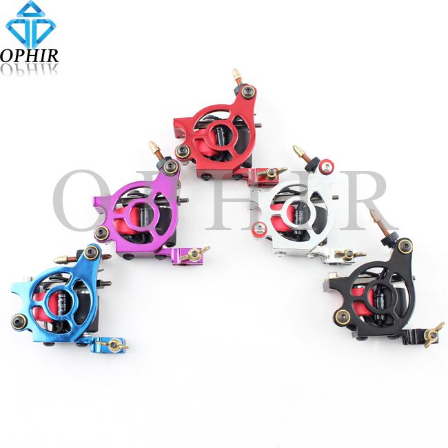 OPHIR 5 Colour Rotary Tattoo Gun Dragonfly Rotary Tattoo Machine Motor 8 Wrap Dual-coiled Shade Liner #TA017A-E(China (Mainland))