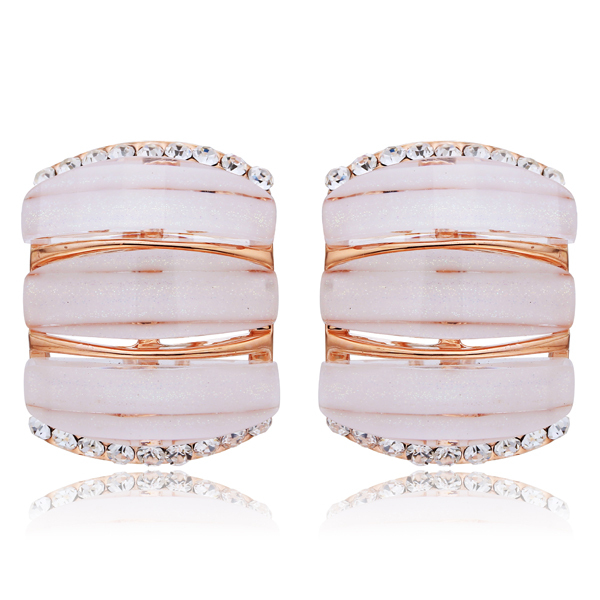 NICETER Famous Brand Stud Earrings Rose Gold Plated Women Brincos Shell Engagement Party Jewelry - Niceter store
