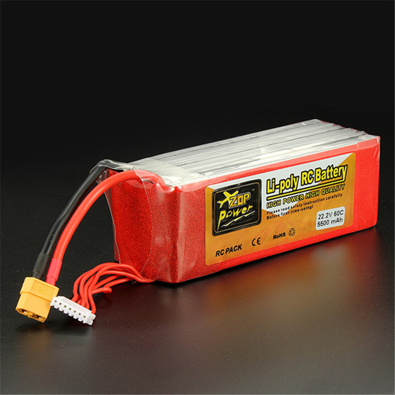 Фотография New Arrival ZOP Power 22.2V 5500mAh 6S 60C Lipo Battery XT60 Plug Rechargeable Lipo Battery RC Battery For RC Helicopter Part